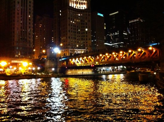 Chicago River Nighttime III