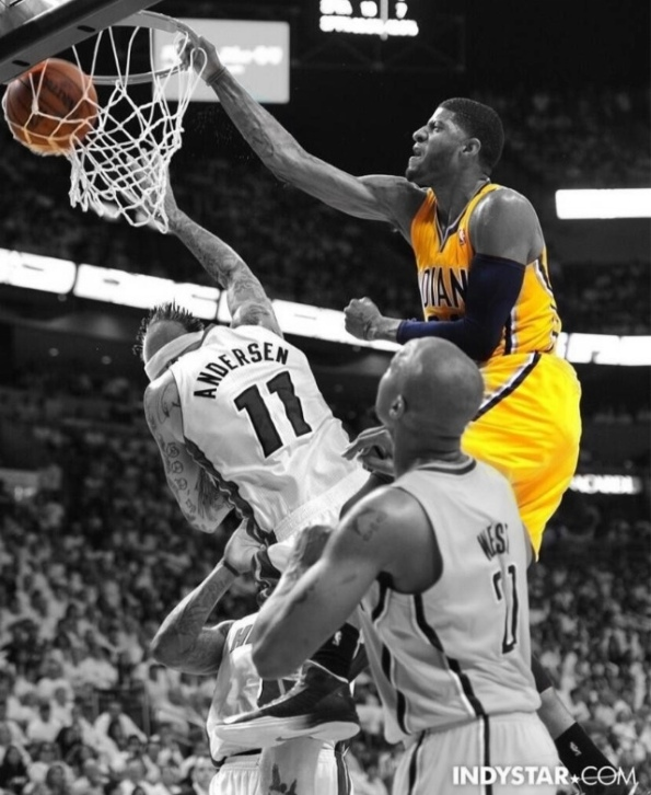 Paul George Dunk (Color Splash)