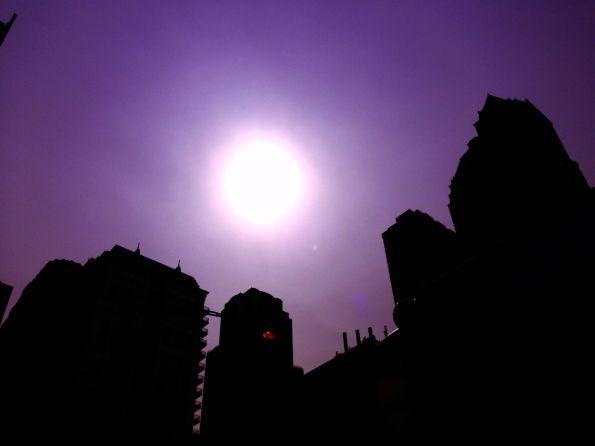 Sun + Purple Sky I
